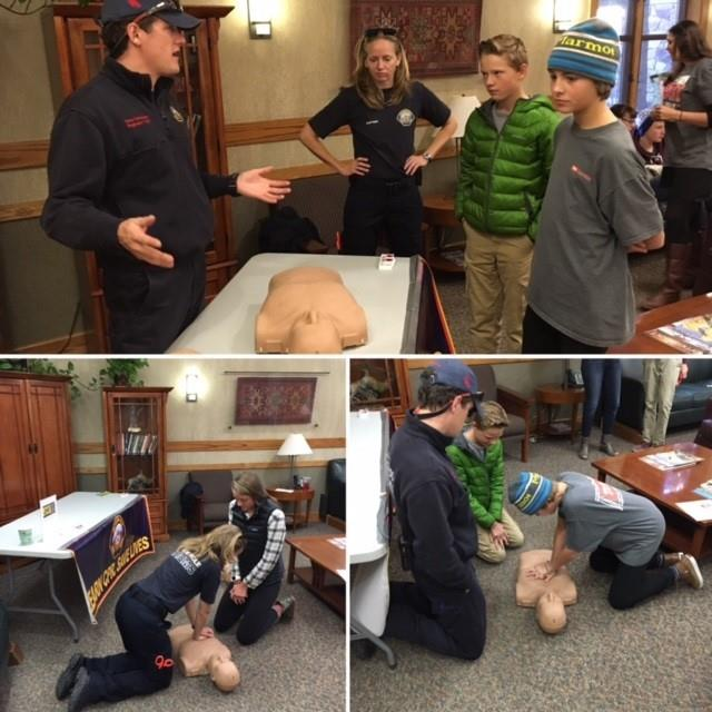 EMT Team Teaching CPR to Kids